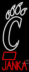 Custom Janka Cincinnati Bearcats Neon Sign