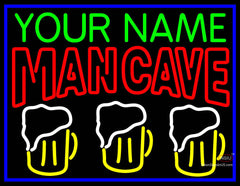 Man Best Friend Beer Glasses Man Cave Neon Sign