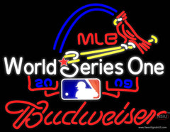 All Star Game With Budweiser Mlb Real Neon Glass Tube Neon Sign