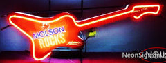 Custom Molson Rocks Guitar Neon Sign