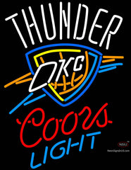 Okc Thunder With Coors Light Neon Sign