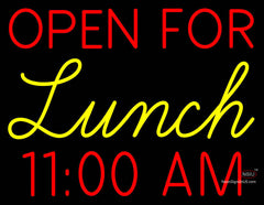 Custom Open For Lunch Neon Sign