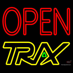 Custom Open With Trx Logo Neon Sign