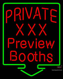Custom Private Xxx Preview Booths Neon Sign