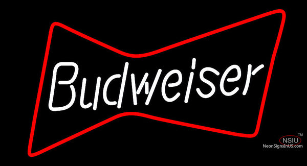 Red Bowtie And Budweiser Neon Sign