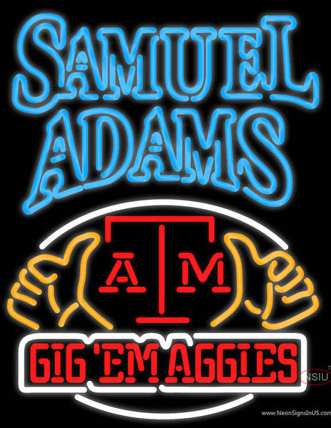 Samuel Adams A And M Logo University Real Neon Glass Tube Neon Sign