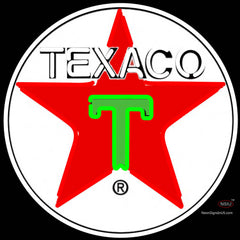 Texaco Logo Gasoline Neon Sign