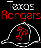 Texas Rangers  with Baseball Hat Neon Sign