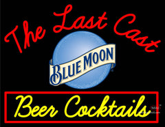Custom The Last Cast Blue Moon Round Logo Beer Cocktail Neon Sign