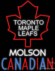 Toronto Maple Leafs Molson Canadian Real Neon Glass Tube Neon Sign