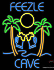 Custom Two Palm Tree With Two Beer Glass Real Neon Glass Tube Neon Sign