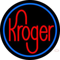 Custom Kroger With Round Logo Neon Sign