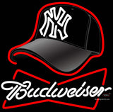 Budweiser Hat With Yankees Fitted Neon Sign