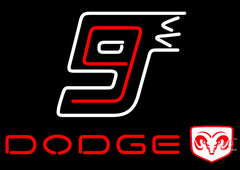 Dodge  Logo Neon Sign