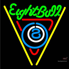 Eightball Billiards Pool Neon Beer Sign x
