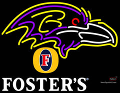 Fosters Baltimore Ravens NFL Neon Sign
