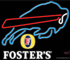 Fosters Buffalo Bills NFL Real Neon Glass Tube Neon Sign