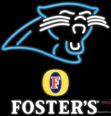 Fosters Carolina Panthers NFL Real Neon Glass Tube Neon Sign   x