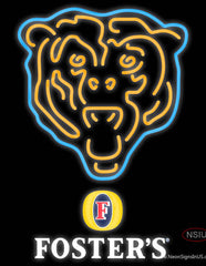 Fosters Chicago Bears NFL Real Neon Glass Tube Neon Sign