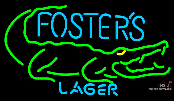 Fosters Crocodile Neon Beer Sign
