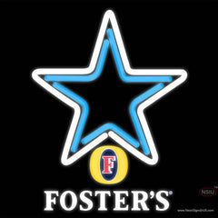 Fosters Dallas Cowboys NFL Real Neon Glass Tube Neon Sign   x
