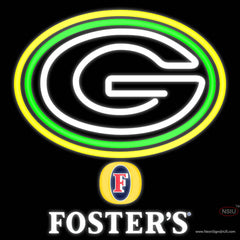 Fosters Green Bay Packers NFL Real Neon Glass Tube Neon Sign   x