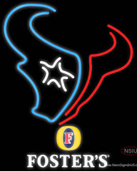 Fosters Houston Texans NFL Real Neon Glass Tube Neon Sign