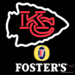 Fosters Kansas City Chiefs NFL Real Neon Glass Tube Neon Sign   x