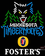 Fosters Minnesota Timber Wolves NBA Neon Sign