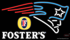 Fosters New England Patriots NFL Real Neon Glass Tube Neon Sign