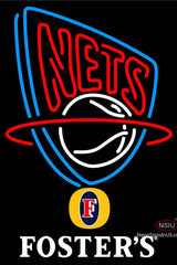 Fosters New Jersey Nets NBA Neon Sign