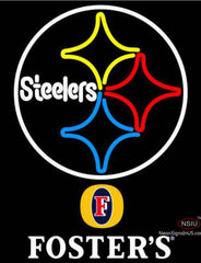 Fosters Pittsburgh Steelers NFL Neon Sign