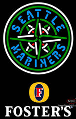 Fosters Seattle Mariners MLB Neon Sign