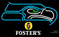 Fosters Seattle Seahawks NFL Neon Sign