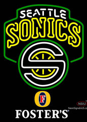 Fosters Seattle Supersonics NBA Neon Sign
