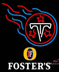 Fosters Tennessee Titans NFL Neon Sign