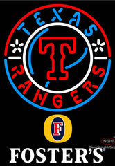 Fosters Texas Rangers MLB Neon Sign