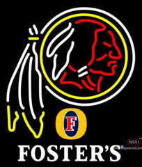 Fosters Washington Redskins NFL Neon Sign