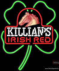 George Killians Irish Red Shamrock Neon Beer Sign
