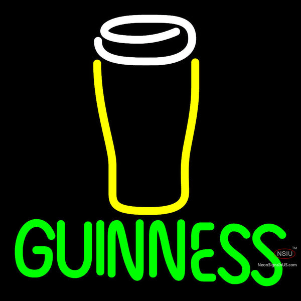 Guinness Glass  Neon Beer Sign x