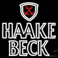 Haake Becks Logo Real Neon Glass Tube Neon Sign
