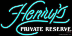 Henrys Private Reserve Real Neon Glass Tube Neon Sign