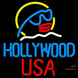 Hollywood Usa Neon Sign x