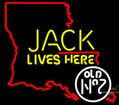 Jack Daniels Jack Lives Here Louisiana Neon Sign