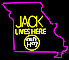Jack Daniels Jack Lives Here Missouri Neon Sign