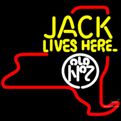 Jack Daniels Jack Lives Here New York Neon Sign x