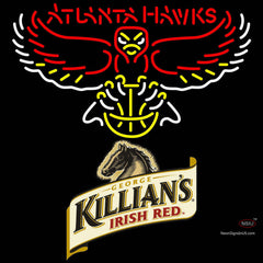 Killians Atlanta Hawks NBA Neon Beer Sign