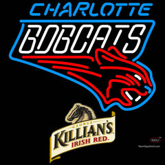 Killians Charlotte Bobcats NBA Neon Beer Sign