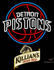 Killians Detroit Pistons NBA Neon Beer Sign