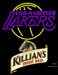 Killians Los Angeles Lakers NBA Neon Beer Sign